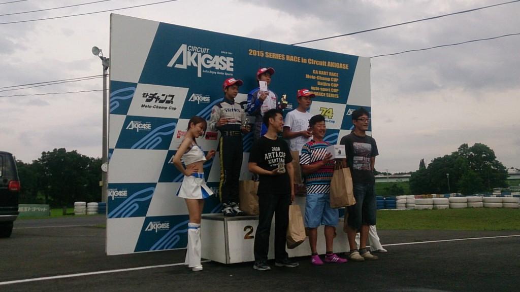 レンタルレーシングカート 2位表彰台