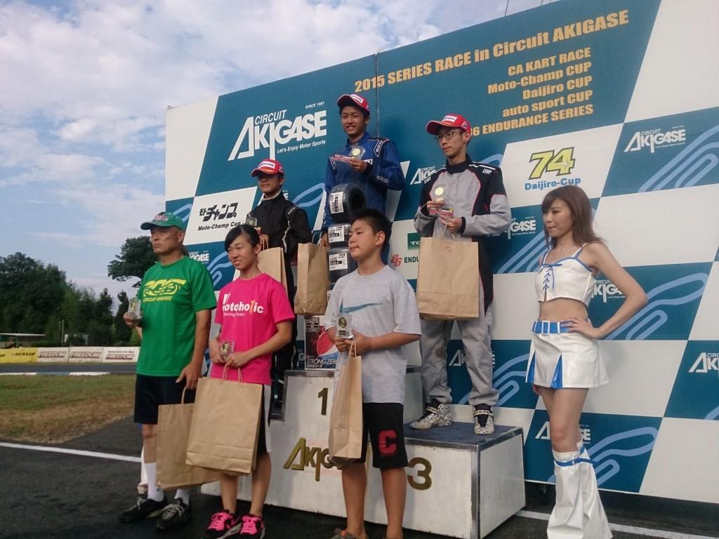 サーキット秋ヶ瀬 レンタル レース 表彰台