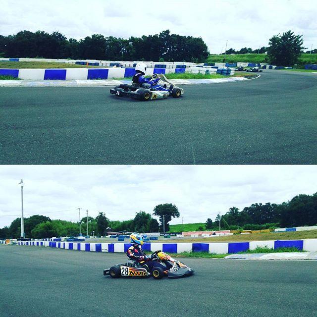 サーキット秋ヶ瀬1コーナー全開進入!!!#モータースポーツ#レーシングカート