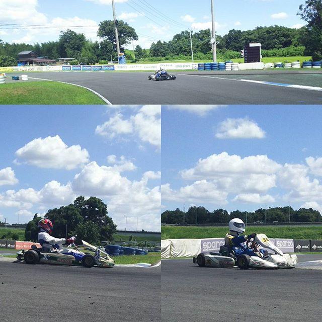 初心者占有時間帯2名様!お二人ともかなりの乗りこなし!#レーシングカート#モータースポーツ#サーキット秋ヶ瀬