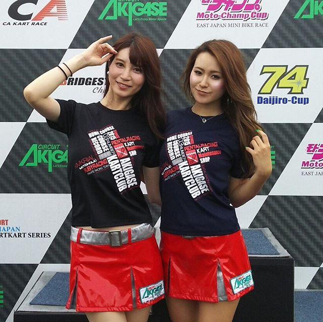 アキガセカートクラブの新作Tシャツ!秋ヶ瀬サーキットクィーンにモデルになってもらいました!!!#レーシングカート#サーキット秋ヶ瀬 #オリジナルtシャツ